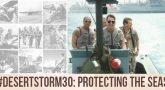 During Desert Storm, U.S. leaders mobilized all branches of the Defense Department, sending Coast Guard Reservists to the Middle East to protect the seas.