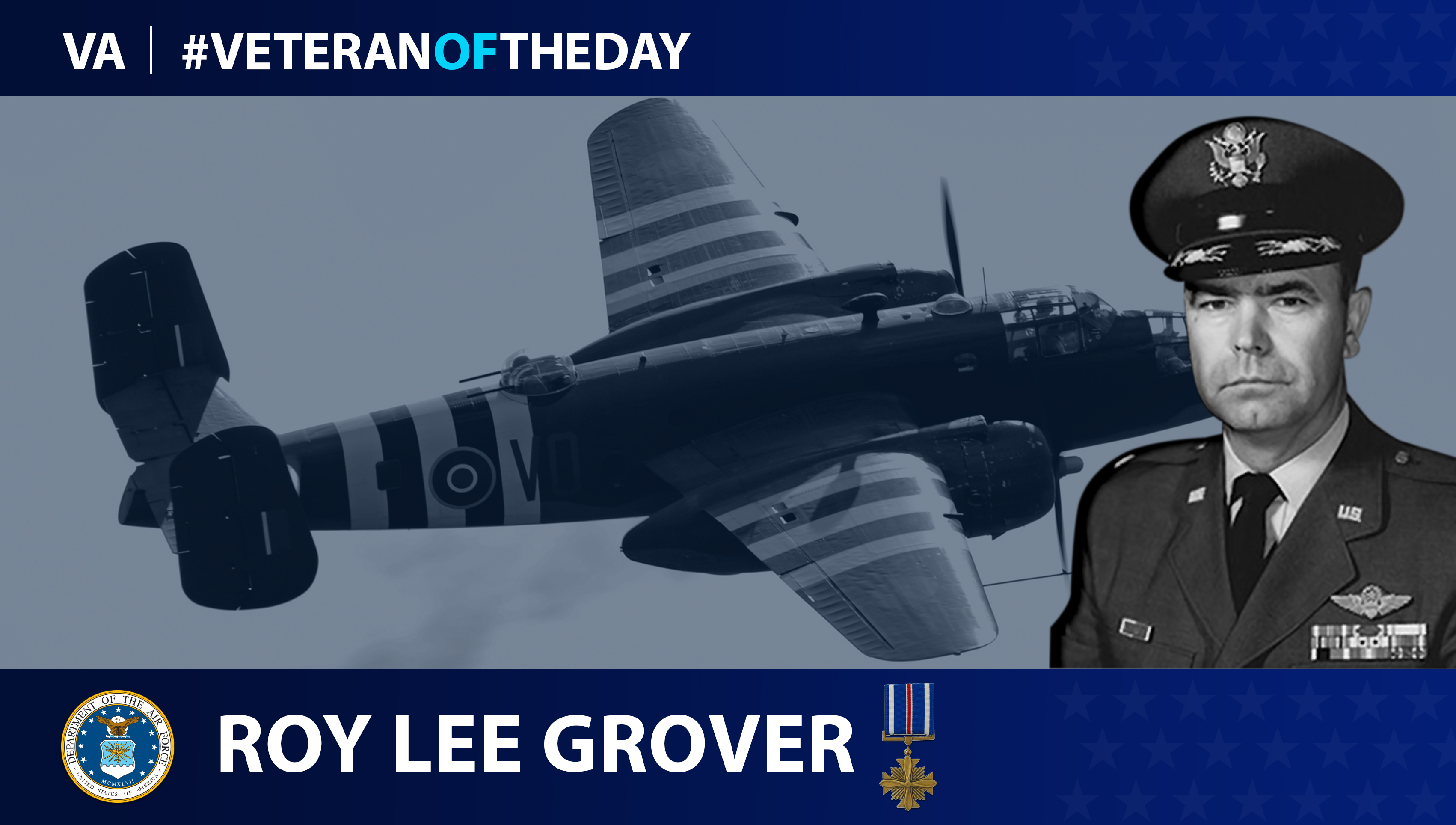 Air Force Veteran Roy Lee Grover is today's Veteran of the Day.