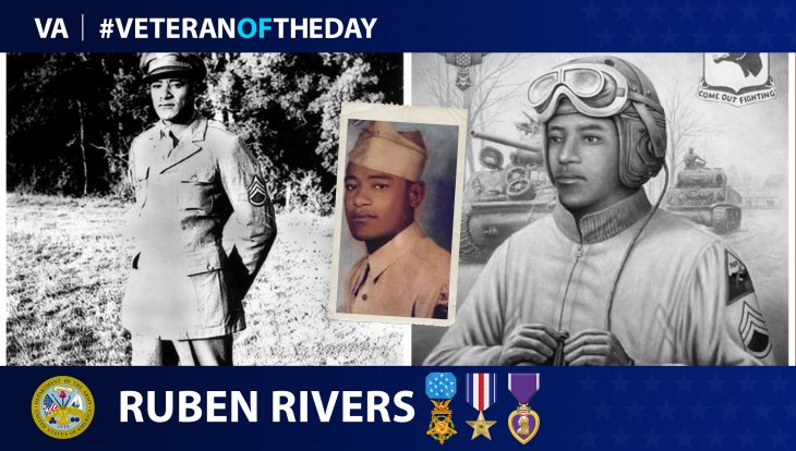Army Veteran Ruben Rivers is today's Veteran of the day.