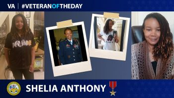 Army Veteran Shelia Anthony is today's Veteran of the day.