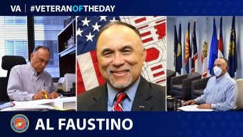 Marine and Army Veteran Al Faustino is today's Veteran of the Day.