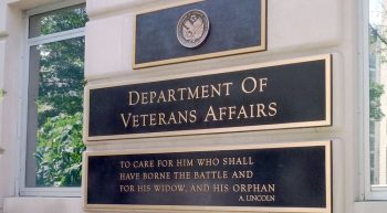 Sign at entrance to VA Washington DC