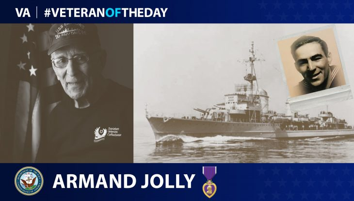Navy Veteran Armand Jolly is today's Veteran of the day.