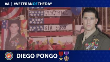 Marine Corps Veteran Diego D. Pongo is today's Veteran of the day.