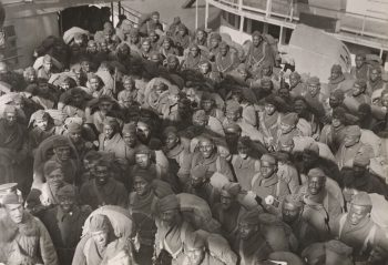 National Archives photo of 167th soldiers