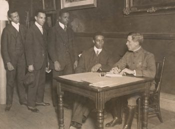 Black men enlisting during WWI