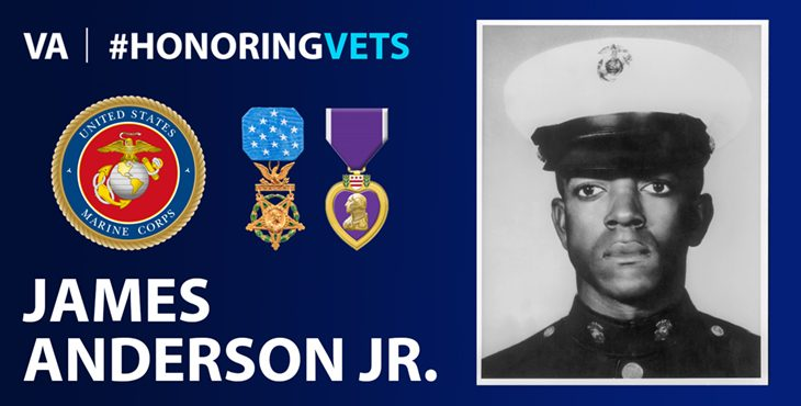 """""""PFC Anderson was a product of our world, and our society. He was a member of a generation that is seeking and questioning the contribution an individual can make in our society. He was also a member of a race which is seeking its rightful place in society."""" -Secretary of the Navy Paul R. Ignatius"""