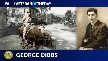 Army Veteran George Dibbs is today's Veteran of the day.