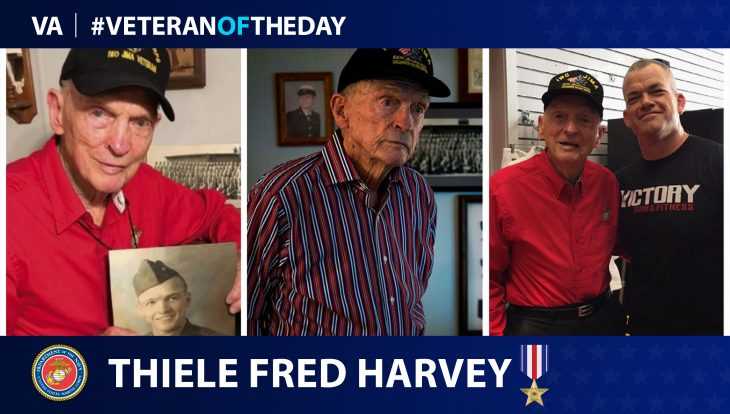 Marine Corps Veteran Thiele Fred Harvey is today's Veteran of the day.