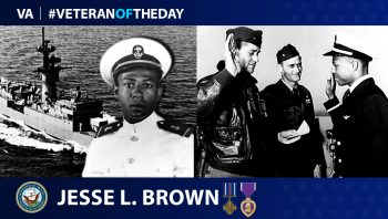 Navy Veteran Jesse L. Brown is today's Veteran of the Day.