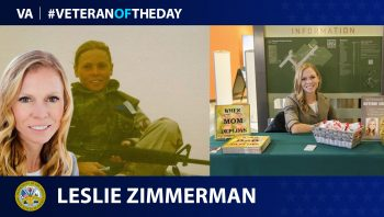 Army Veteran Leslie Zimmerman is today's Veteran of the day.