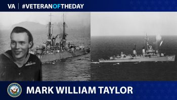 Navy Veteran Mark William Taylor is today's Veteran of the day.