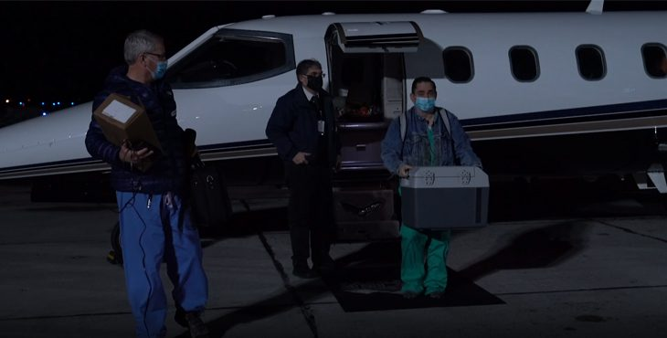 Veterans in rural Kalispell, Montana, received COVID-19 vaccines following an airplane delivery from Fort Harrison near Helena into Glacier Park International Airport Feb. 3.