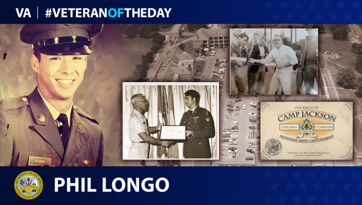 Army Veteran Phil Longo is today's Veteran of the day.