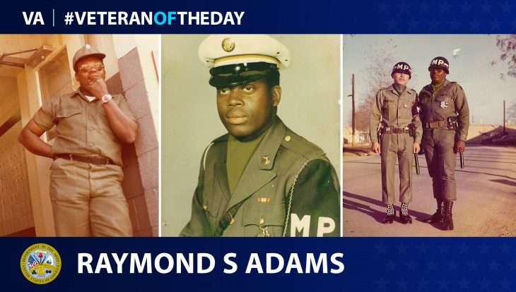 Army Veteran Raymond S. Adams is today's Veteran of the Day.
