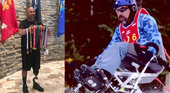 Marine Veteran holds medals and competes in winter sports