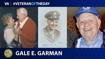 Army Veteran Gale Garman is today's Veteran of the day.
