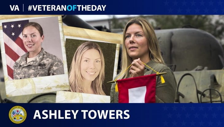 Army Veteran Ashley Towers is today's Veteran of the day.