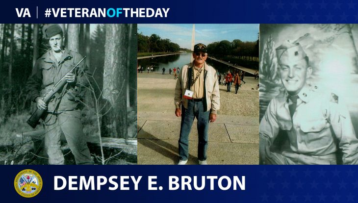 Army Veteran Dempsey Bruton is today's Veteran of the day.