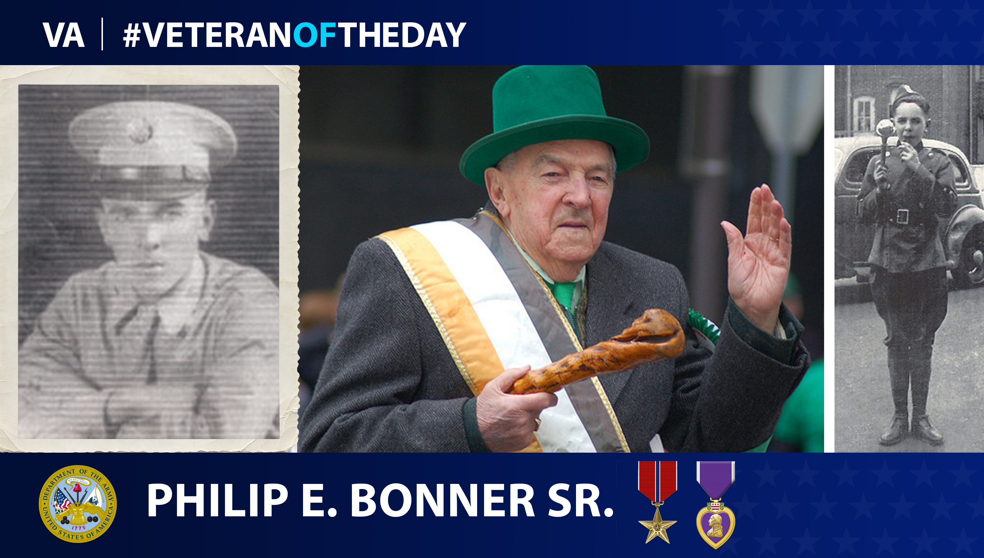 Army Veteran Philip Edward Bonner is today's Veteran of the day.