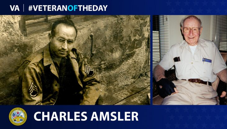 Army Veteran Charles M. Amsler is today's Veteran of the day.