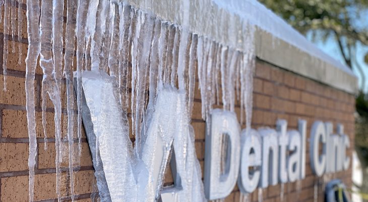 Icicles on Dental Clinic sign