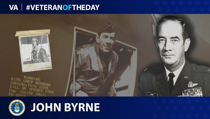 Air Force Veteran John Byrne is today's Veteran of the day.