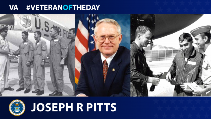 Air Force Veteran Joseph R. Pitts is today's Veteran of the day.