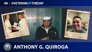 Navy Veteran Anthony G. Quiroga is today's Veteran of the day.