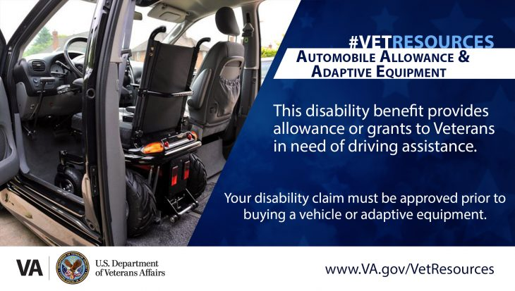 Veterans and active duty with a service-connected disability that prevents them from driving an automobile may qualify for a VA program to purchase a specially modified motor vehicle.