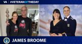 Air Force and Army Veteran James Broome is today's Veteran of the day.