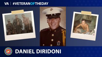 Marine Corps Veteran Daniel Diridoni is today's Veteran of the day.