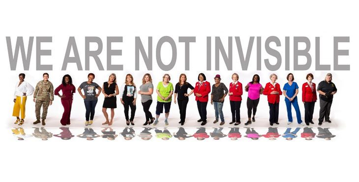 The I Am Not Invisible campaign brings awareness to the barriers and challenges that women Veterans face in obtaining health care and other services.