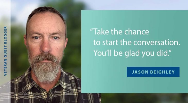 Man with beard in a poster with his quote
