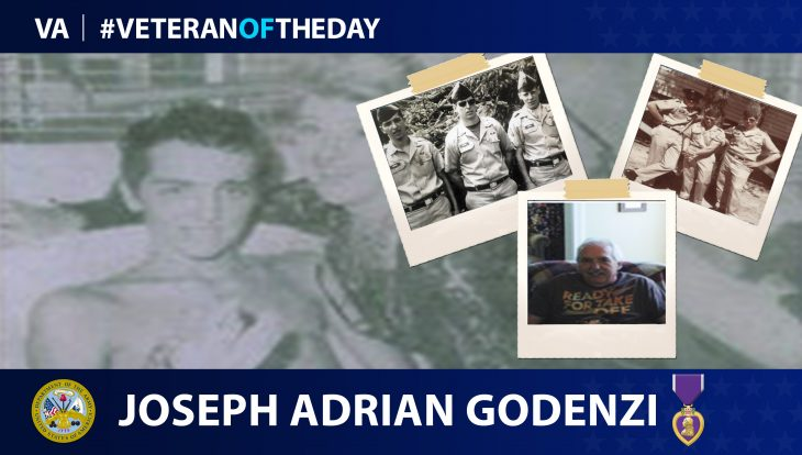 Army Veteran Joseph Adrian Godenzi is today's Veteran of the day.