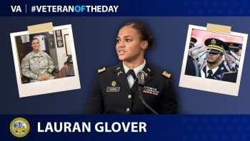 Army Veteran Lauran Glover is today's Veteran of the day.