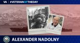 Navy Veteran Alexander Nadolny is today's Veteran of the day.
