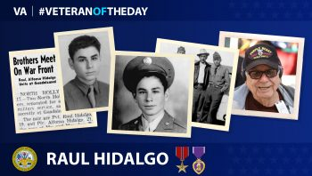 Army Veteran Raul M. Hidalgo is today's Veteran of the day.