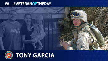 Marine Corps Veteran Tony Garcia is today's Veteran of the day.