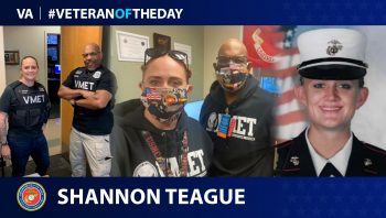 Marine Corps Veteran Shannon Teague is today's Veteran of the day.