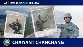 Navy Veteran Chaiyant Chanchang is today's Veteran of the day.