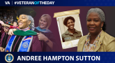 Air Force Veteran Andree M. Hampton Sutton is today's Veteran of the day.