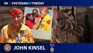 Marine Corps Veteran John Kinsel Sr. is today's Veteran of the day.