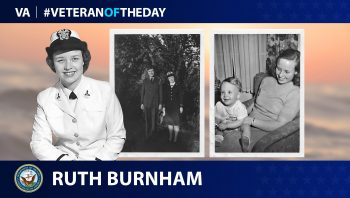 Navy Veteran Ruth Drover Burnham is today's Veteran of the day.