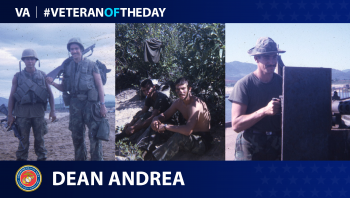 Marine Veteran Dean Andrea is today's Veteran of the day.