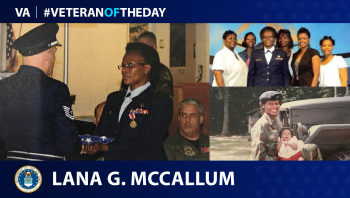 Air Force Veteran Lana Gregory McCallum is today's Veteran of the day.