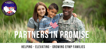 military family in a field
