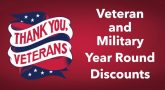 thank you Veterans year round discounts