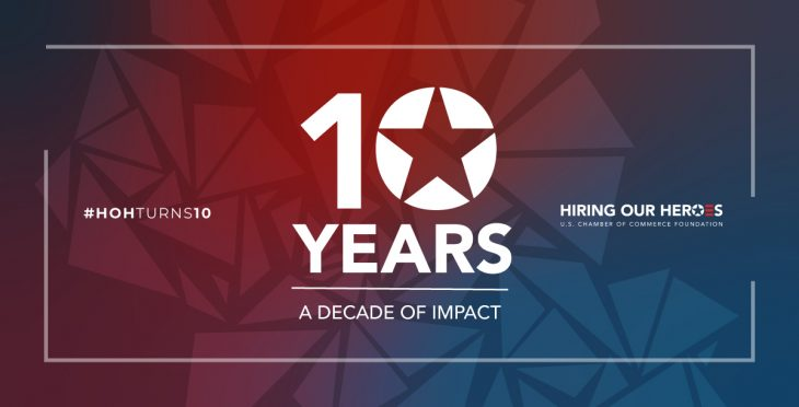 10th anniversary graphic hiring our heroes