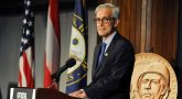 VA Secretary Denis McDonough speaks at an event honoring Borinqueneers at the National Press Club April 13.